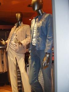 Blouson peau gerry weber colori jean sur jean délavé veste froissée barbara lebek